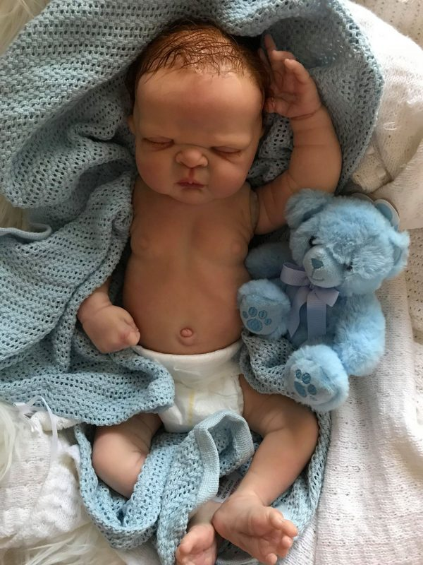 Toby Closed Eyes Full Bodied Reborn Doll