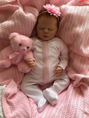 Evelyn Closed Eyes Reborn Doll