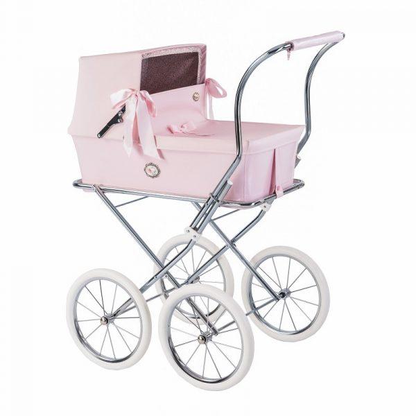 Bebelux Pink Reborn Doll Pram