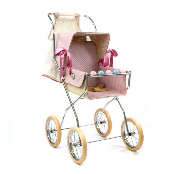 Bebelux Powder Pink Reborn Doll Vintage Pushchair