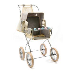 Bebelux Stone Grey Reborn Doll Vintage Pushchair