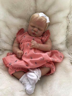 Lavender Closed Eyes Reborn Doll