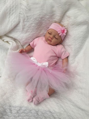 Sofia Closed Eyed Reborn Doll