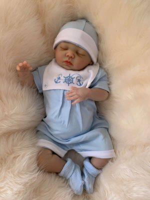 William Closed Eyes Reborn Doll