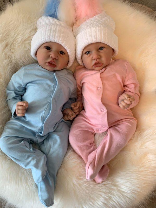 Sidney & Saskia Twin Reborn Doll Set