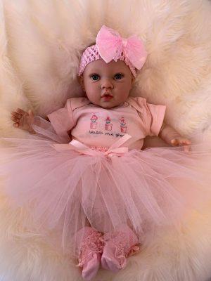 Violet Open Eyed Reborn Doll
