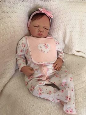 Lily Closed Eyed Reborn Doll